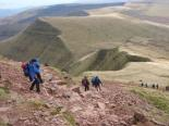 Off Pen y Fan towards Cribyn