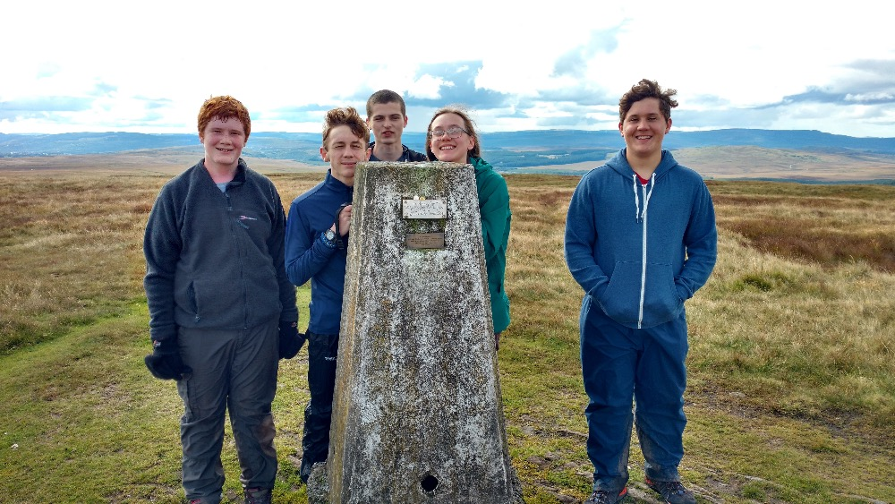 Team Judy at Twin Mwyalchod Trig