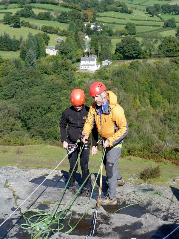 Top of the abseil - Neil