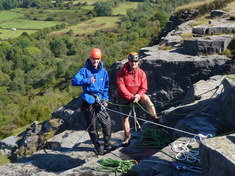 Top of the abseil - Jim