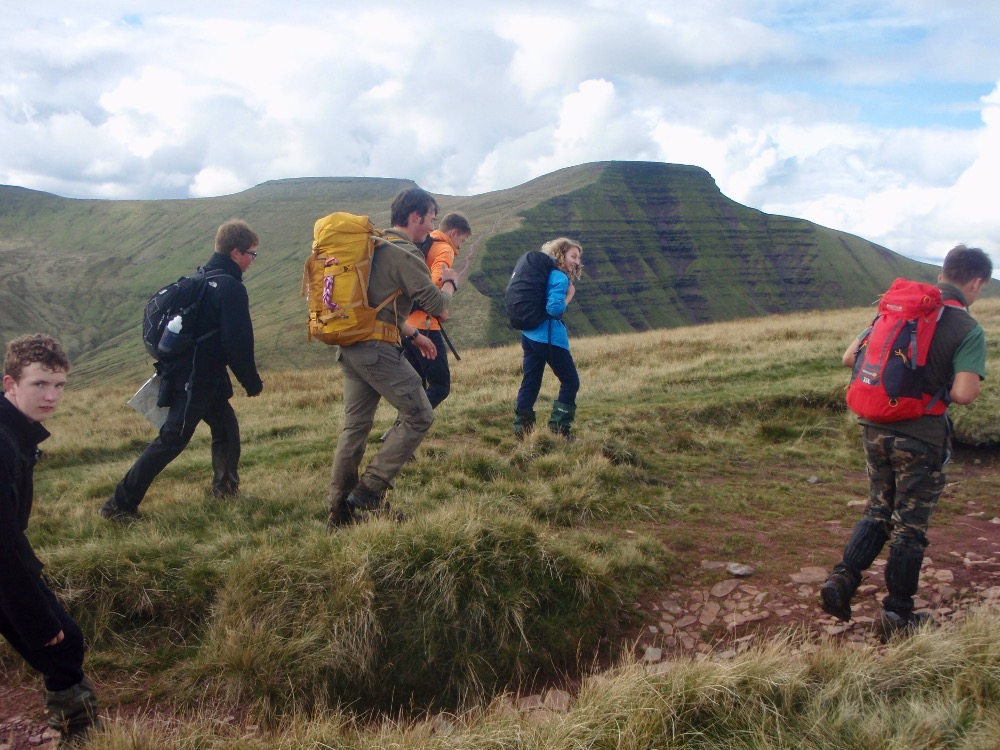 Onto Cribyn, Pen y Fan behind