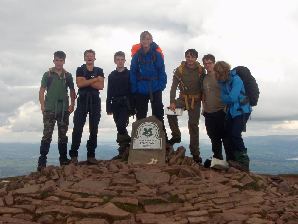 Team Neil on Pen y Fan