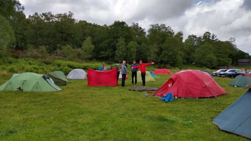 Drying out after a very wet wild camp