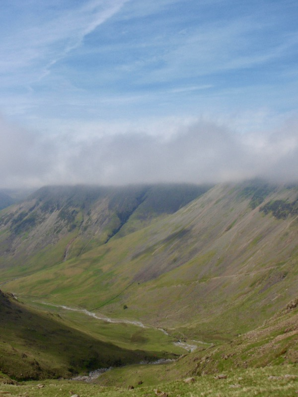 Over looking Linmell Beck and Wasdale head