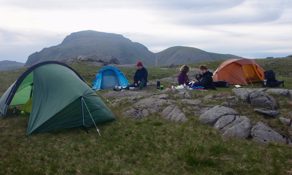 Neil's Newbies wild camping at Sprinkling Tarn
