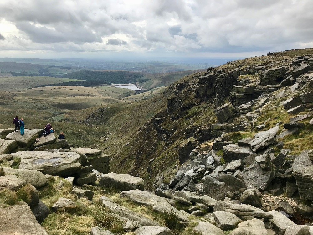 Looking West from Kinder Downfall