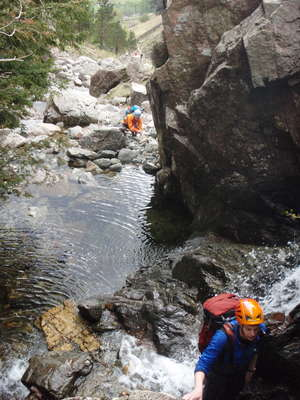 Scrambling in Stickle Gill