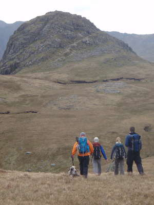Walking off via Pike of Stickle