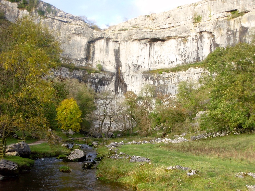 Malham Cove bathed in evening sun