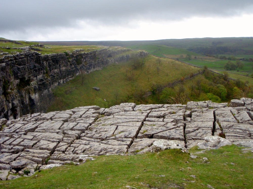 The Limestone Pavement above Malham Cove