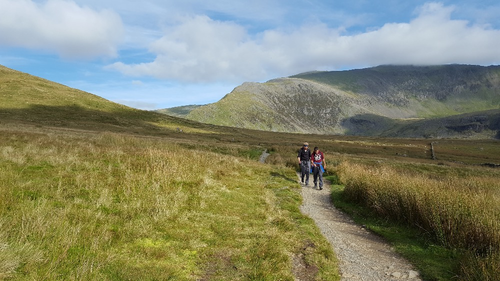 Walking out down the Rhyd-Du path